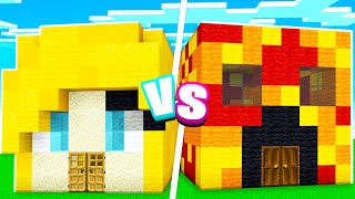 EXTREME Girl vs Boy Minecraft House Battle!