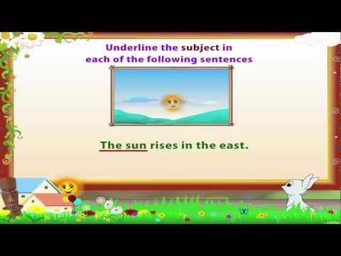 Subject (grammar) - In this video you get to Learn Grade 3 - English Grammar - Subject and Predicate.