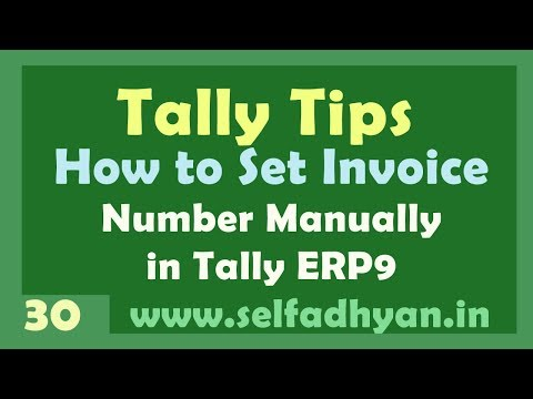 How to Set Manual Invoice number format in tally Erp 9 in hindi by Manoj Sir