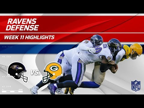 Video: Baltimore's D Racks Up 6 Sacks, 3 INTs & 2 Fumble Recoveries | Ravens vs. Packers | Wk 11 Player HLs