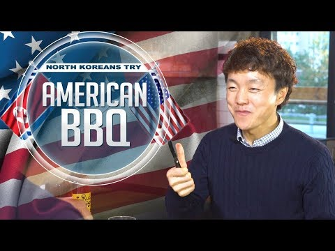 North Koreans Try American bbq (2017) - Talking about Life in North Korea while enjoying the food of their former enemy