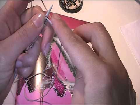 Zarte Glasdeckchen stricken 1