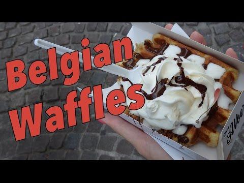 Belgian Waffles taste test in Bruges