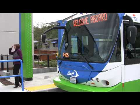 bus rapid transit - Includes general Swift information, fare payment instructions, shelter amenities, Swift route and destinations, and features and benefits of bus rapid transit.