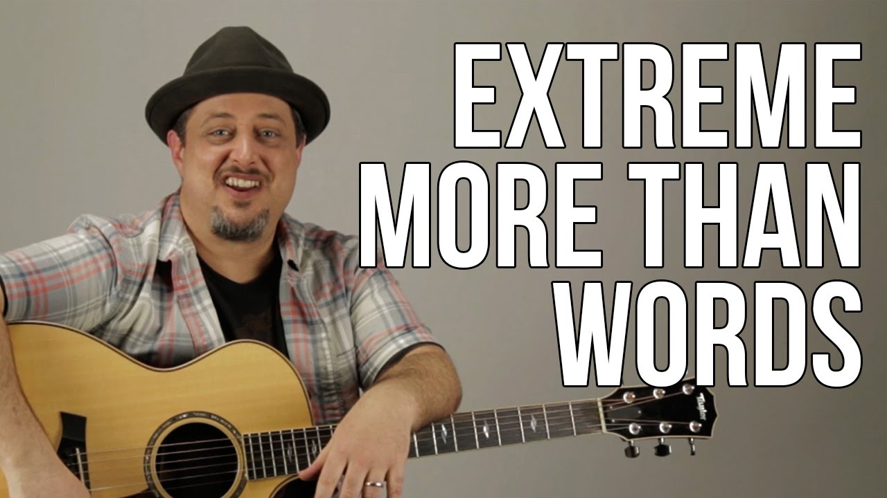 """How to Play """"More Than Words"""" by Extreme Part 1 – Guitar Lesson – Tutorial"""