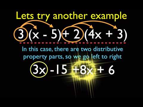 Algebra - Distributive And Combining Like Term Part 2