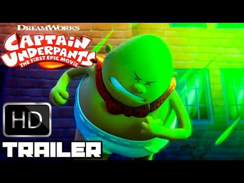 Captain Underpants All New Clips & Trailers (2017) Animated Movie HD