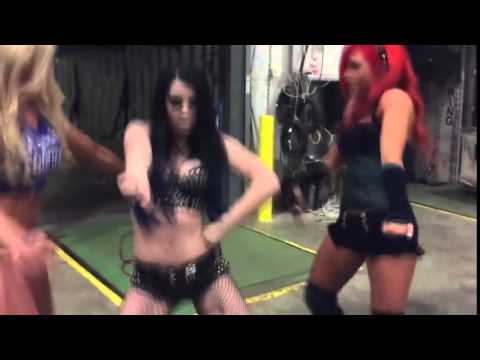 PAIGE DANCING TO...RANDY ORTON THEME SONG!!