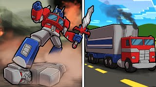 Play TRANSFORMERS in Minecraft! (Autobots vs Decepticons)