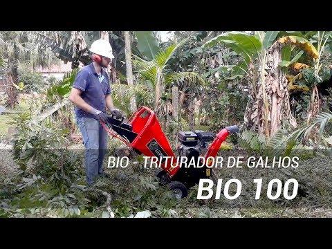 Triturador de Galhos BIO 100 com 6,5 HP