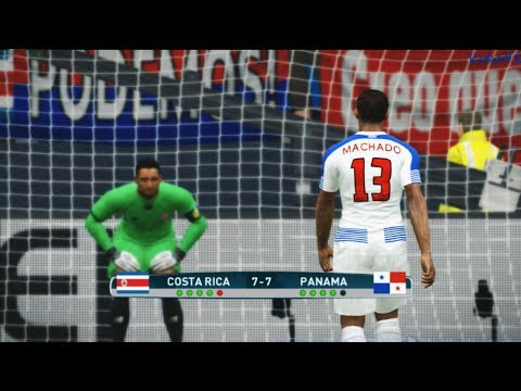 COSTA RICA VS PANAMA | Qualifying Round | FIFA 2018 World Cup | PES 2017 GAMEPLAY PC