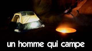 aprender francês # 1 time lapse # un homme qui campe