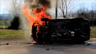 Gassville (AR) United States  City new picture : RAW FOOTAGE OF ROLLOVER ACCIDENT FIRE - GASSVILLE, AR - 3/29/15