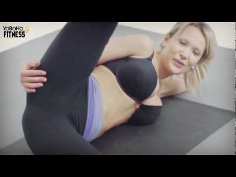 YoBoHoFitness - Scissor Stretch: This fitness workout exercise will help you shed fat from your sides. Reduce those love handles.