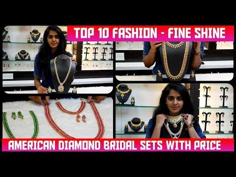 American Diamond Bridal Sets With Price ||#Annanagar Fine Shine Fashion Store (#TTF VLog #3)