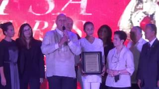 The late Caloy Loyzaga cited with POC Olympism Award