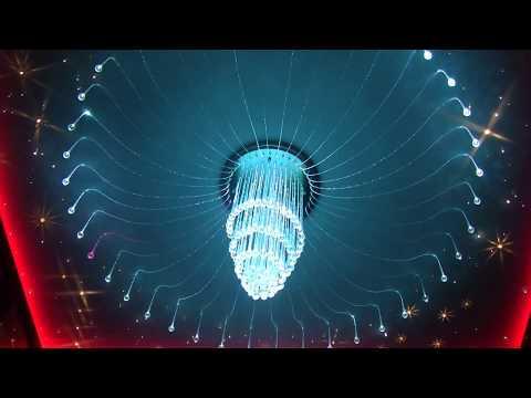 Żyrandole światłowodowe, żyrandole z oświetleniem dekoracyjnym, najładniejsze żyrandole