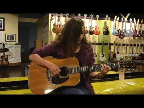Carter Vintage Guitars - Wil Maring on a 1946 D-28