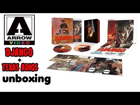 Arrow Video DJANGO(1966) + TEXAS ADIOS(1966) Limited Edition Blu-ray Unboxing