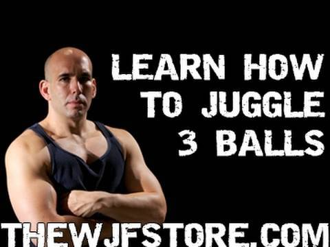juggling - Complete instruction on how to juggle three balls. For the full DVD which also teaches 4 through 7 balls, 3-7 rings, and 3-5 clubs, more instructional materi...