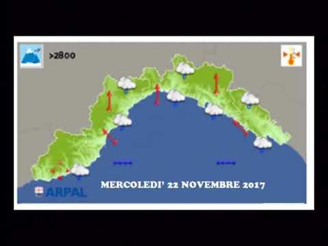 PREVISIONI METEO DI MERCOLEDI' 21 NOVEMBRE 2017