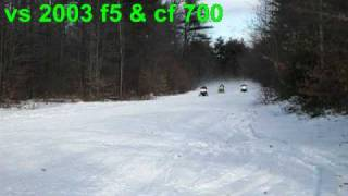 2. 2010 arctic cat snopro 500 vs. 2003 f5
