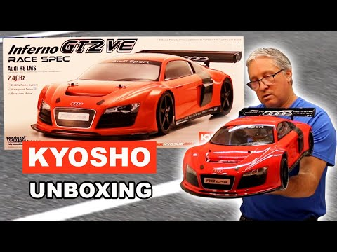 RC Supercar - Kyosho Inferno GT2 VE Audi R8 LMS - Unboxing and Test