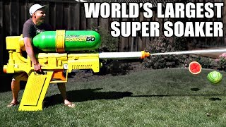 Guy Builds World's Biggest Super Soaker, Proceeds to Spray a Ton of Kids