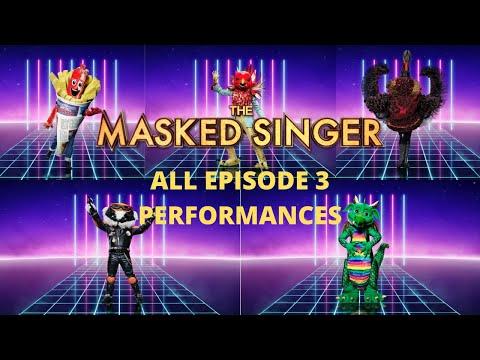 ALL EPISODE 3 PERFORMANCES | The Masked Singer UK Ep.3