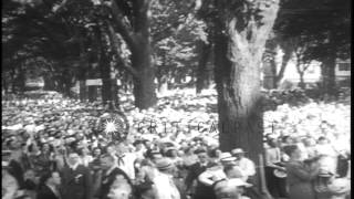 Marietta (OH) United States  City new picture : US President Roosevelt dedicates a monument in Marietta, Ohio to pioneers who est...HD Stock Footage