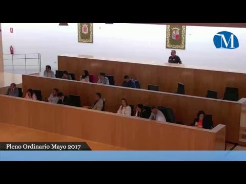 Pleno ordinario, Diputación de Málaga, mayo 2017