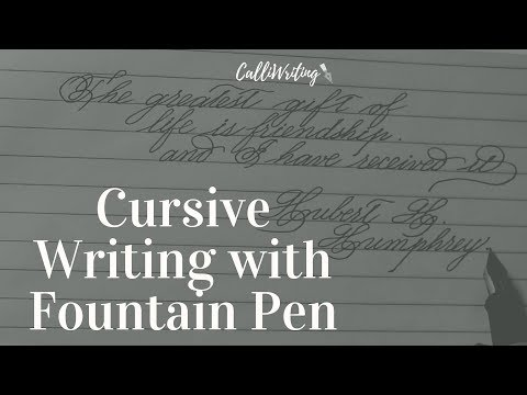 Quotes on friendship - Cursive writing with fountain pen  penmanship calligraphy  Calligraphy