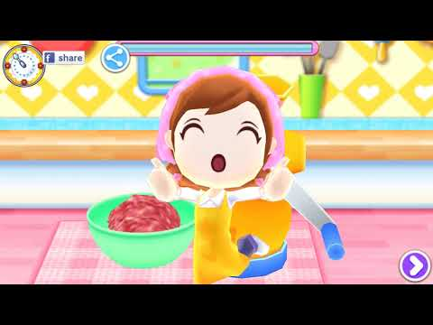 Let's Play COOKING MAMA Let's Cook #5 - Making Salisbury Steak  Level 2