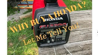6. Why I chose the Honda EU2200i Generator