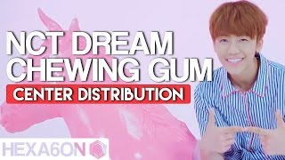 NCT Dream - Chewing Gum Center Distribution (Color Coded)