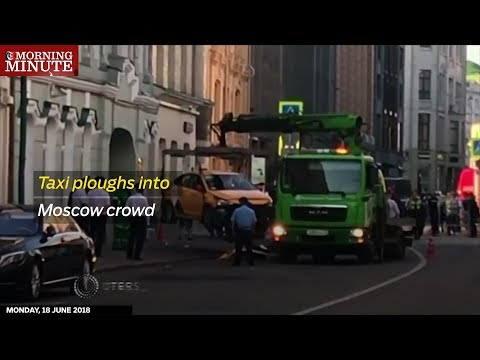 Taxi ploughs into Moscow crowd