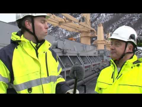 Northland 24 feb 2013 Första båten med Kaunisvaaramalm lämnar Narvik