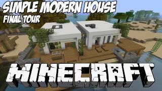 Minecraft House Tour HD:  Simple Modern Tutorial House 1 Final Showcase