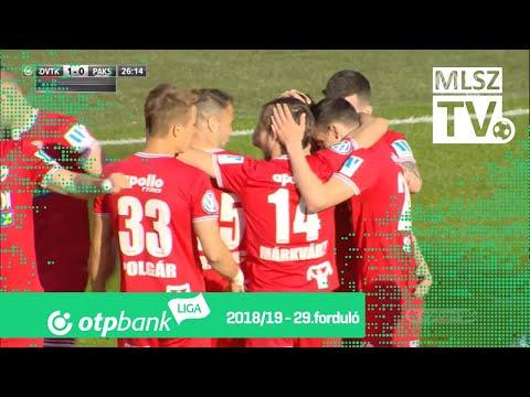 29. forduló: DVTK - Paks 1-0 (1-0)