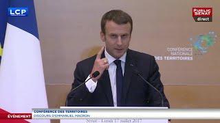 Video Conférence des territoires - Discours intégral d'Emmanuel Macron MP3, 3GP, MP4, WEBM, AVI, FLV November 2017