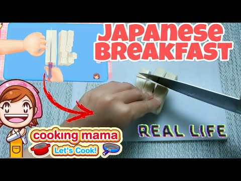 COOKING MAMA REAL LIFE | Japanese Breakfast | I Followed Cooking Mama Recipes In Real Life
