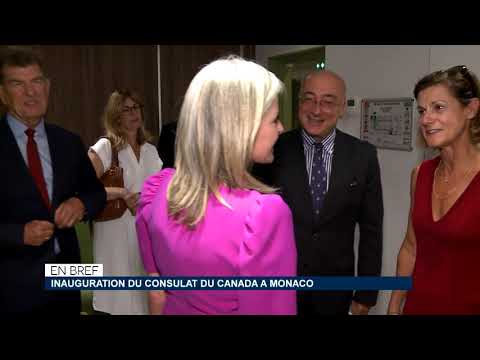 In brief: inauguration of the Consulate of Canada in Monaco