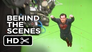 Man Of Steel Behind The Scenes - Flying (2013) - Henry Cavill, Amy Adams Movie HD
