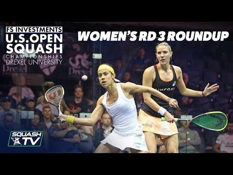 Squash: Women's Rd 3 Roundup Pt. 2 - US Open 2018