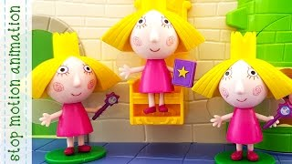 Subscribe to my channel https://www.youtube.com/channel/UCIg36eyhkbmPd74AG5l2bTQ?sub_confirmation=1Nanny´s Magic book Ben and Holly Toys Characters 3d Figures Stop Motion AnimationBen and Holly's Little Kingdom. Somewhere, hidden amongst thorny brambles, is a little kingdom of elves and fairies. Everyone who lives here is very, very small....Ben Elf and princess-fairy Holly are most important characters of the cartoon in English. Each episode is a new adventure of our heroes. Watch all episodes in compilation and you better get to know who Ben and Holly are,  who their friends are and who live near Ben and Holly, like Ladybird Gaston, Nanny Plum, Wise Old Elf,  King Thistle, Queen Thistle, Holly's little sisters Daisy and Poppy, Mr. Elf, Mrs. Elf, Redbeard Elf Pirate, little girl Lucy, caterpillar Betty, Big Bad Barry, Santa Claus and Christmas elves, Bobby the bee, alien Zyrus, Bong planet, dwarwes, Mrs. Witch. Also watch compilations of all episodes without frames and all new episodes 2017 Ben & Holly's Little Kingdom and you will know what is the elf windmill, planet Bong, a picnic on the moon,  jelly flood,  chickens ride west,  The elf factory, The elf rocket, The elf submarine, north pole, jorney to the center of the earth, snow, what happens with the stars and many more....