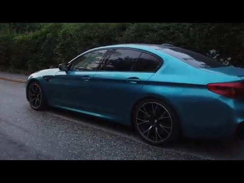 Everyday night driving BMW M5 Competition Night Vision with Pedestrian Detection