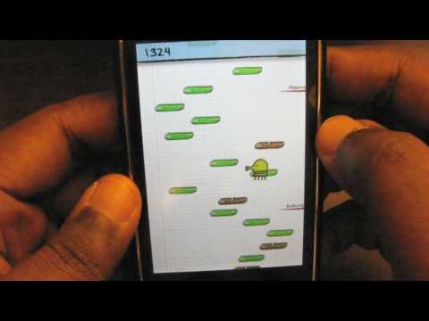 doodle jump - In this video, I review an iPhone game called DoodleJump. I first heard of DoodleJump from louisgray.com and he went nuts on how addictive it was. I tried it...