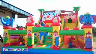 Video playing at Castle Balloon Doraemon Odong odong Kids Toys many friends Kids Pool Fun Baloon Castle MP3, 3GP, MP4, WEBM, AVI, FLV Agustus 2018