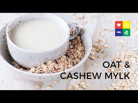 Homemade Oat & Cashew Milk - 1 MIN RECIPE!   World Plant Milk Day (видео)