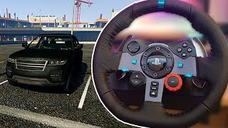 GTA 5 DRIVING WITH A STEERING WHEEL (Logitech G29 Driving Force Racing Wheel)